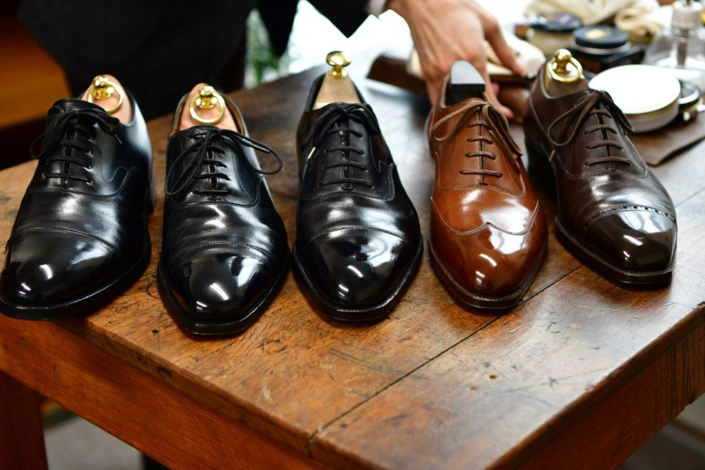 高級靴 靴磨き専門 福岡市今泉